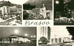 AK / Ansichtskarte Brasov Teilansichten Innenstadt Kirche Gebaeude Hochhaeuser Wohnblocks Siedlung Brasov