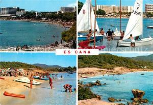 AK / Ansichtskarte Es_Cana Panorama Strand Kueste Segelboote Hotels Es_Cana