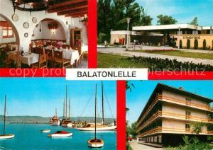 AK / Ansichtskarte Balatonlelle Strand Fuerdoe Hotel Hafen Segelboote Balatonlelle