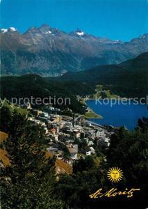 AK / Ansichtskarte St_Moritz_GR Panorama St Moritzersee Alpenpanorama St_Moritz_GR