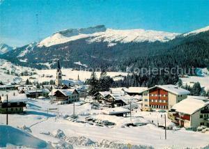 AK / Ansichtskarte Riezlern_Kleinwalsertal_Vorarlberg Winterpanorama mit Hoch Ifen Allgaeuer Alpen Riezlern_Kleinwalsertal