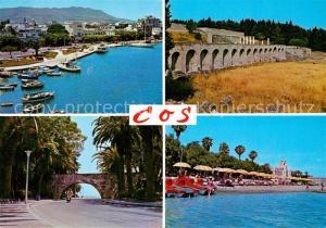 AK / Ansichtskarte Cos_Kos Hafen Strand Viadukt Ruinen Uferstrasse Cos_Kos