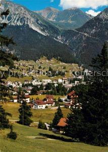 AK / Ansichtskarte Lenzerheide_GR Panorama mit Piz Naira und Piz Miez Albula Alpen Lenzerheide GR