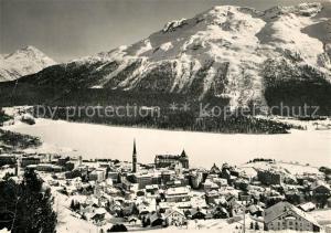 AK / Ansichtskarte St_Moritz_GR Winterpanorama Alpen St_Moritz_GR