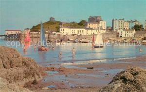 AK / Ansichtskarte Tenby North Beach Harbour Tenby