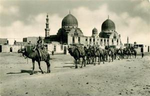 AK / Ansichtskarte Cairo_Egypt Sultan Barkouk Mosque Camele Cairo Egypt