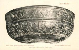 AK / Ansichtskarte Alesia(Roman War)_Alise Sainte Reine Vase orne poterie rouge dite samienne