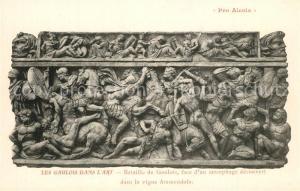 AK / Ansichtskarte Alesia(Roman War)_Alise Sainte Reine Bataille de Gaulois face d'un sarcophage decouvert dans la vigne Ammendola