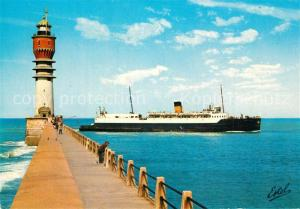 AK / Ansichtskarte Dunkerque La jetee bateau antrant au port Dunkerque
