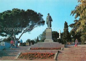 AK / Ansichtskarte Jalta_Ukraine Maxim Gorki Denkmal Jalta Ukraine