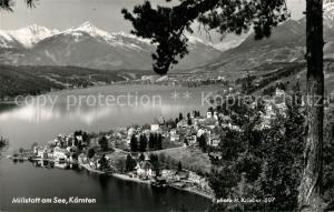 AK / Ansichtskarte Millstatt_Millstaettersee Panorama Alpen Millstatt_Millstaettersee
