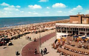 AK / Ansichtskarte Zandvoort_Holland Rotonde Strand Promenade Restaurant Zandvoort_Holland
