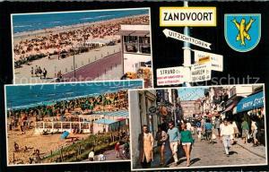 AK / Ansichtskarte Zandvoort_Holland Strand Promenade Kirchenstrasse Ladengeschaefte Zandvoort_Holland