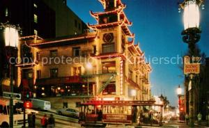 AK / Ansichtskarte San_Francisco_California Chinatown at night