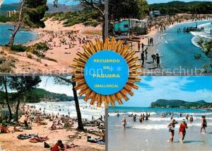 AK / Ansichtskarte Paguera_Mallorca_Islas_Baleares Kuestenpanorama Strand Paguera_Mallorca