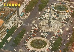 AK / Ansichtskarte Lisboa Rossio Centro da Cidade vista aerea Lisboa