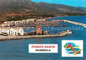 AK / Ansichtskarte Puerto_Banus Hafen Fliegeraufnahme