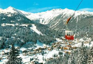 AK / Ansichtskarte Madonna_di_Campiglio Veduta invernale con la Funivia di Pradalago Dolomiti di Brenta Madonna_di_Campiglio
