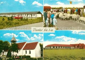 AK / Ansichtskarte Ho_Varde Teilansichten Kirche Schafherde
