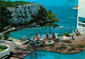 AK / Ansichtskarte Santa_Galdana Hotel Terrasse Swimming Pool Blick auf die Bucht Kueste