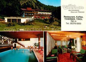 AK / Ansichtskarte Thiersee Hotel Charlotte Hallenbad Thiersee