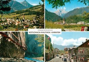 AK / Ansichtskarte Koetschach Mauthen_Kaernten Sommerfrische Alpen Schlucht Koetschach Mauthen Kaernten