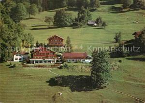 AK / Ansichtskarte Leissigen Ferienheim der Pilgermission St. Chrischona Meielisalp Fliegeraufnahme Leissigen