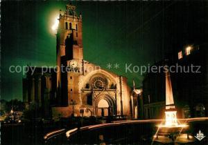 AK / Ansichtskarte Toulouse_Haute Garonne La Ville Rose Cite des Violettes Illumination de la Cathedrale Saint Etienne Toulouse Haute Garonne