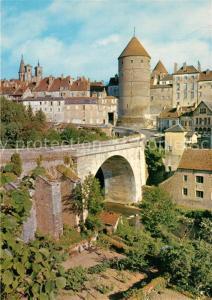 AK / Ansichtskarte Semur en Auxois Vue generale le pont et les tours Semur en Auxois