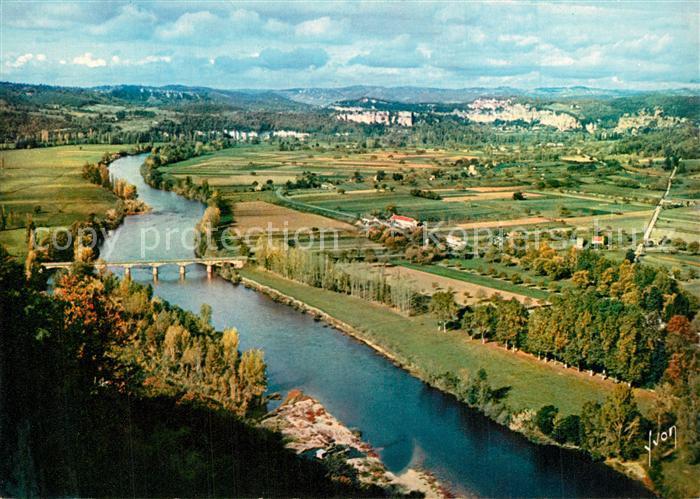 AK / Ansichtskarte Domme La Vallee de la Dordogne vue de la Barre Domme 0