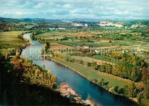 AK / Ansichtskarte Domme La Vallee de la Dordogne vue de la Barre Domme