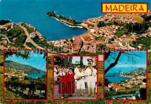 AK / Ansichtskarte Madeira As melhores vistas da Madeira Kuestenpanorama Hafenstadt Folklore Madeira