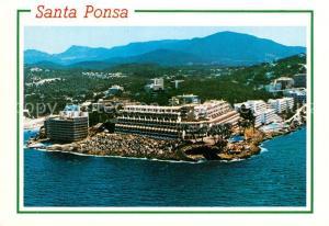 AK / Ansichtskarte Santa_Ponsa_Mallorca_Islas_Baleares Hotels Ferienanlagen Kueste Fliegeraufnahme Santa_Ponsa