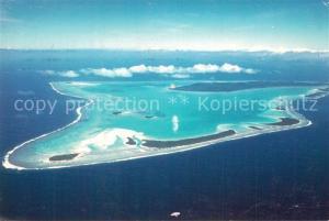 AK / Ansichtskarte Aitutaki Lagoon and coral islands aerial view