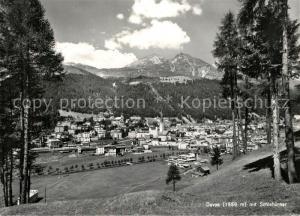 AK / Ansichtskarte Davos_GR Panorama Blick gegen Schiahoerner Buendner Alpen Davos_GR