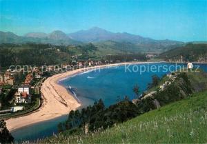 AK / Ansichtskarte Ribadesella_Spanien Playa de Santa Marina y Ermita de Guia Ribadesella_Spanien
