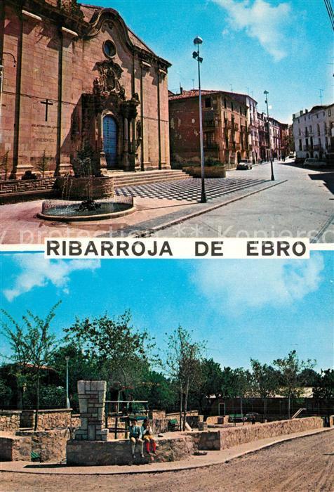 AK / Ansichtskarte Ribarroja_d_Ebre Plaza de Espana Calle General Franco Parque infantil  0
