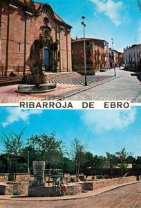 AK / Ansichtskarte Ribarroja_d_Ebre Plaza de Espana Calle General Franco Parque infantil