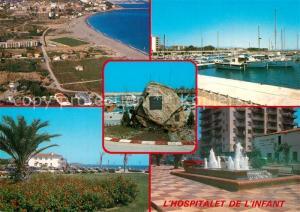 AK / Ansichtskarte Tarragona Hospitalet de l infant varias vistas de la ciudad Puerto Monumento Tarragona