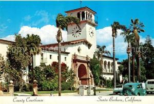 AK / Ansichtskarte Santa_Barbara_California County Courthouse
