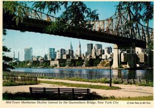 AK / Ansichtskarte New_York_City Mid Town Manhattan Skyline Queensboro Bridge New_York_City