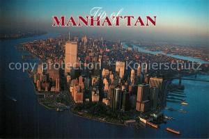 AK / Ansichtskarte Manhattan_New_York Aerial view Manhattan_New_York