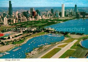 AK / Ansichtskarte Chicago_Illinois Aerial view