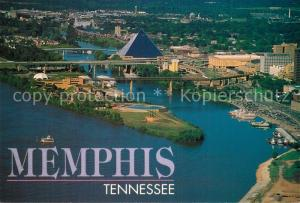 AK / Ansichtskarte Memphis_Tennessee City Riverfront aerial view