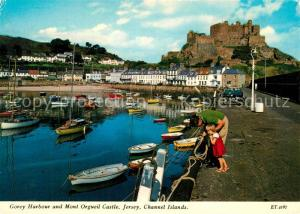 AK / Ansichtskarte Jersey_Kanalinsel Gorey Harbour and Mont Orgueil Castle