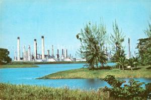 AK / Ansichtskarte Pointe a Pierre Partial view of Texaco Oil Refinery