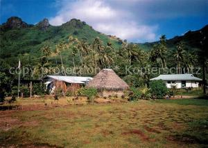 AK / Ansichtskarte Raiatea_Island_Polynesien Village