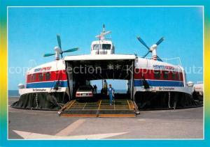 AK / Ansichtskarte Calais Hovercraft Sir Christopher en transit Calais
