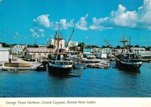 AK / Ansichtskarte George_Town_Cayman_Islands Harbour Fishing Boats