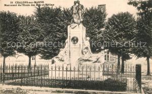 AK / Ansichtskarte Chalons sur Marne_Ardenne Monument de l Ecole des Arts etz Metiers Chalons sur Marne Ardenne